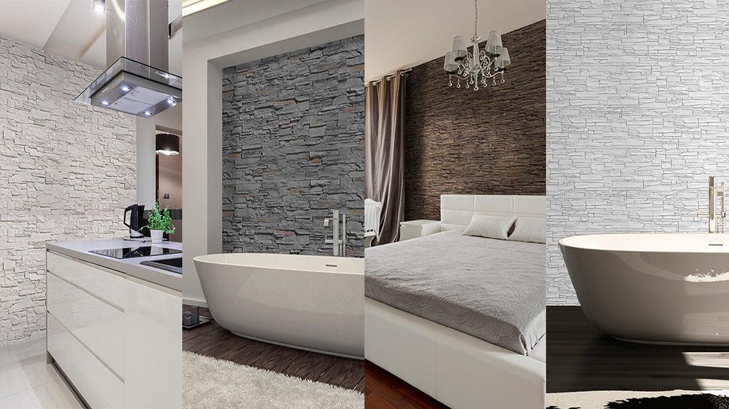 Paneles decorativos imitación laja de BRICOPOL